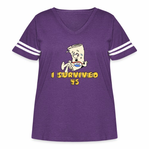 I Survived 45 - Women's Curvy Vintage Sport T-Shirt
