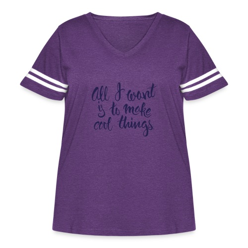 Cool Things Navy - Women's Curvy Vintage Sport T-Shirt