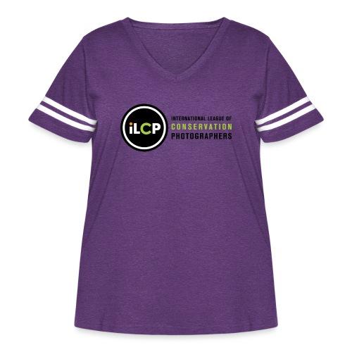 iLCP logo horizontal RGB png - Women's Curvy Vintage Sport T-Shirt