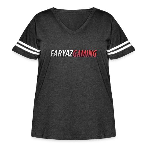 FaryazGaming Text - Women's Curvy Vintage Sport T-Shirt
