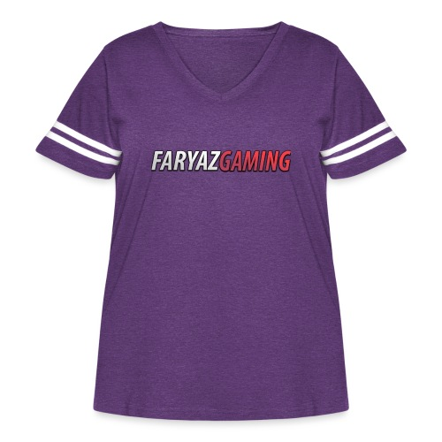 FaryazGaming Text - Women's Curvy Vintage Sport T-Shirt