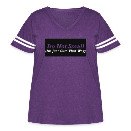 Im Not Small - Women's Curvy Vintage Sport T-Shirt