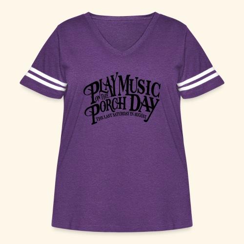 shirt4 FINAL - Women's Curvy Vintage Sport T-Shirt