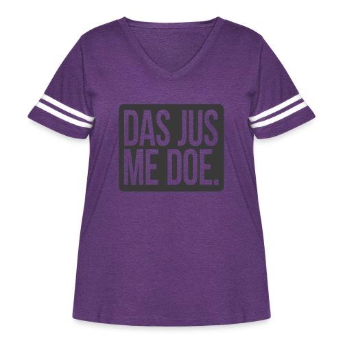 DAS JUS ME DOE Throwback - Women's Curvy Vintage Sport T-Shirt