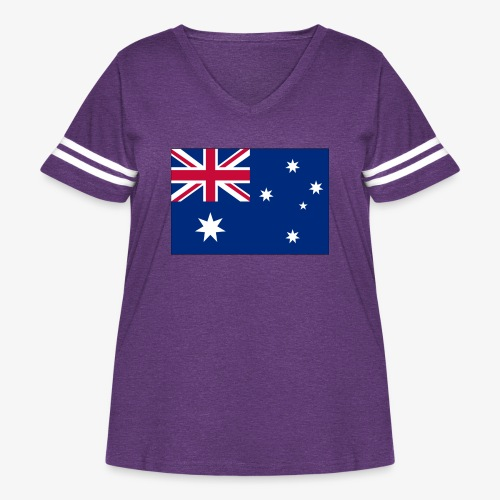 Bradys Auzzie prints - Women's Curvy Vintage Sport T-Shirt