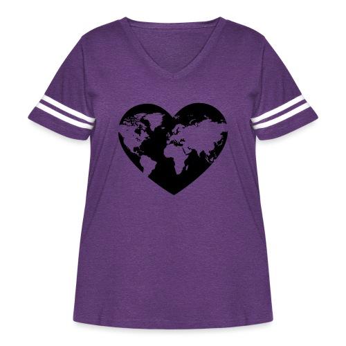 Earth Love - Women's Curvy Vintage Sport T-Shirt