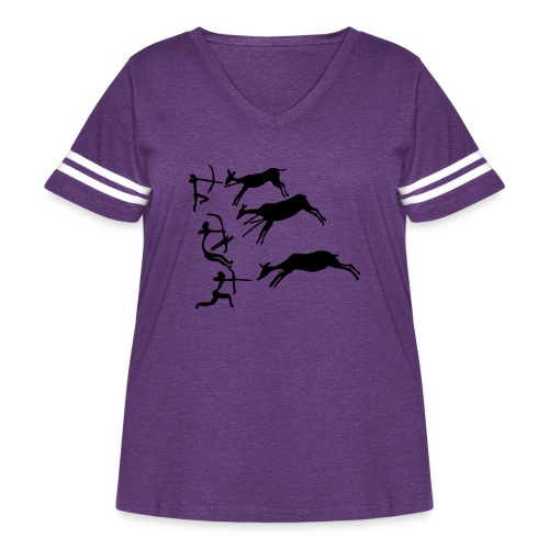 Lascaux Cave Painting - Women's Curvy Vintage Sport T-Shirt