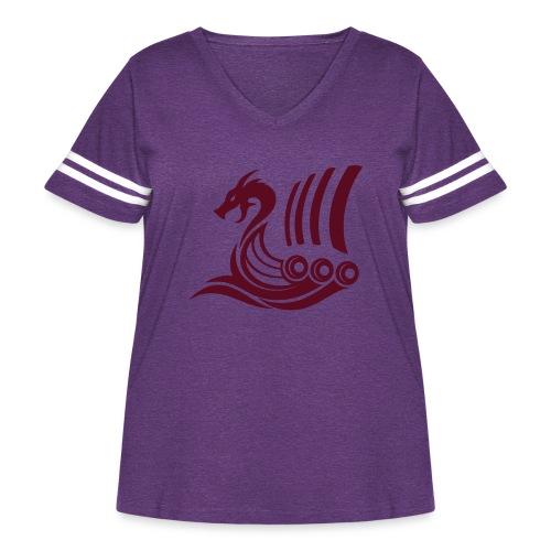 Raido Icon - Women's Curvy Vintage Sport T-Shirt