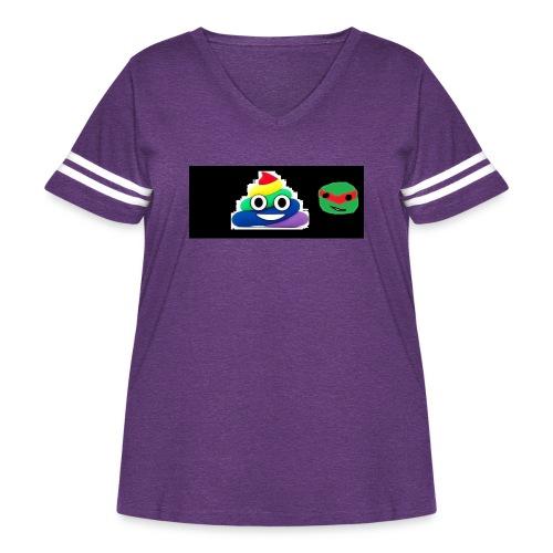 ninja poop - Women's Curvy Vintage Sport T-Shirt