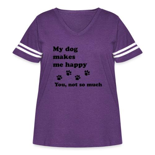 love dog 2 - Women's Curvy Vintage Sport T-Shirt