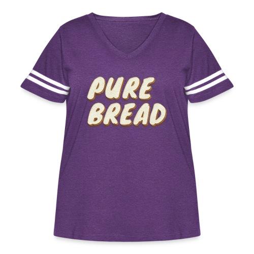 Pure Bread - Women's Curvy Vintage Sports T-Shirt