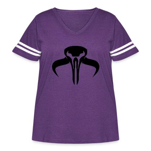 SWTOR Bounty Hunter Class Logo 1-Color - Women's Curvy Vintage Sport T-Shirt