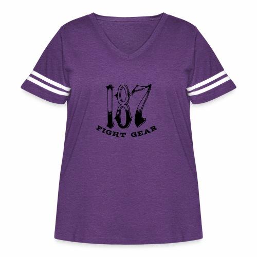 Trevor Loomes 187 Fight Gear Logo Best Sellers - Women's Curvy Vintage Sport T-Shirt