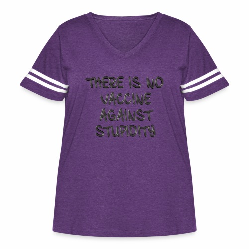 No Vaccine - Women's Curvy Vintage Sport T-Shirt