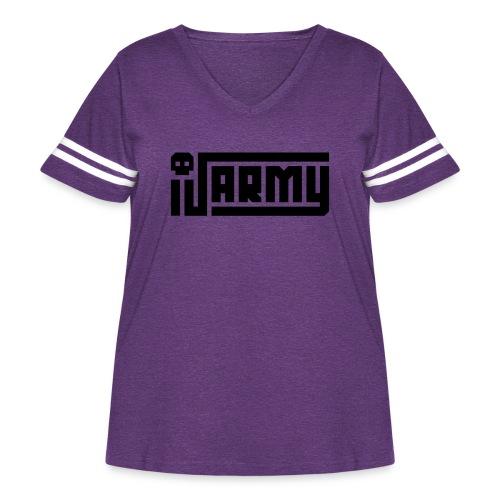 iJustine - iJ Army Logo - Women's Curvy Vintage Sport T-Shirt