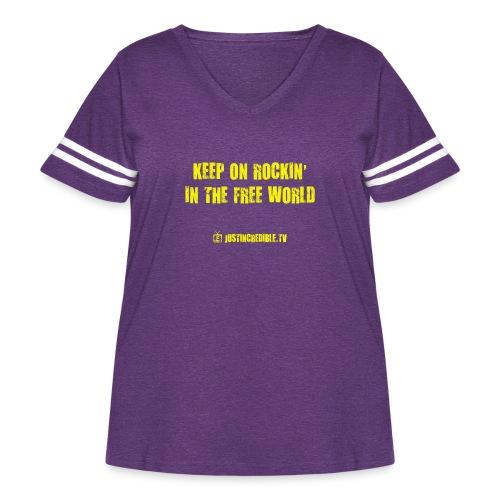 KORITFW yellow - Women's Curvy Vintage Sport T-Shirt