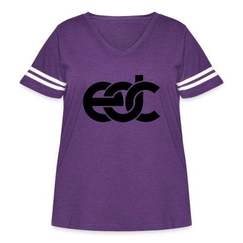EDC Electric Daisy Carnival Fan Festival Design - Women's Curvy Vintage Sport T-Shirt