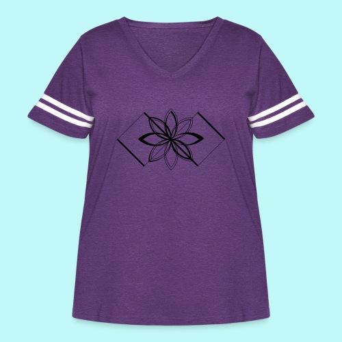 Colour Me DAIZEY Yellow - Women's Curvy Vintage Sport T-Shirt