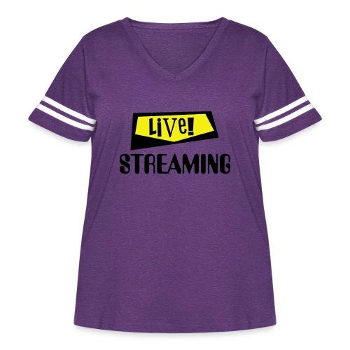 Live Streaming - Women's Curvy Vintage Sport T-Shirt