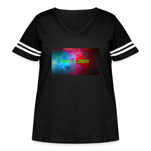 NYAH AND JAZZY - Women's Curvy Vintage Sport T-Shirt
