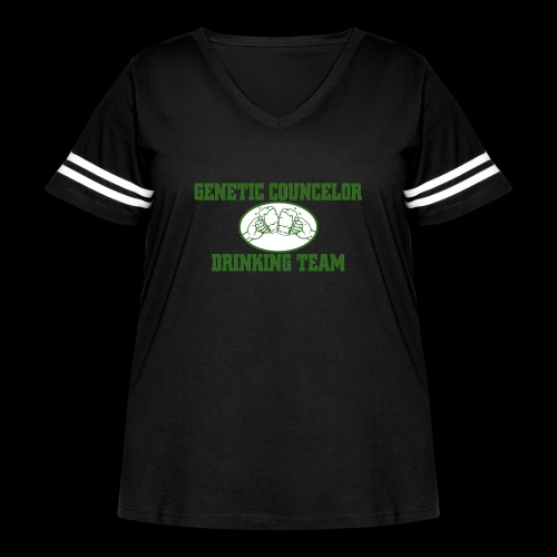 genetic counselor drinking team - Women's Curvy Vintage Sport T-Shirt