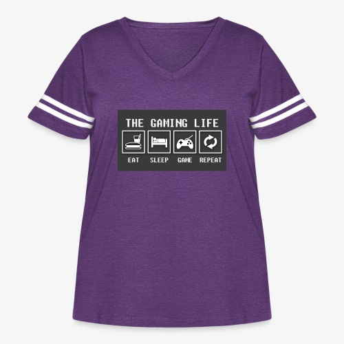 Gaming is life - Women's Curvy Vintage Sport T-Shirt