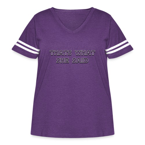 thats what she said - Women's Curvy Vintage Sports T-Shirt