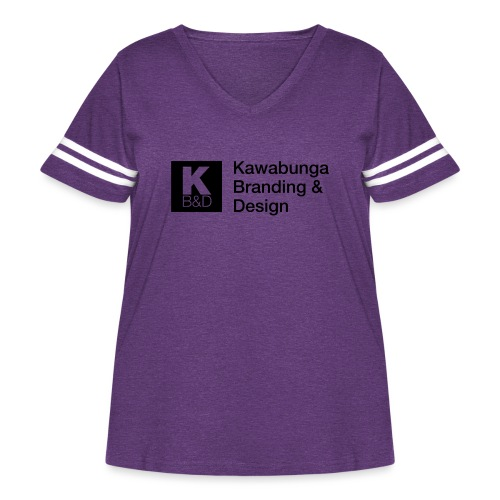 KBD signature - Women's Curvy Vintage Sport T-Shirt