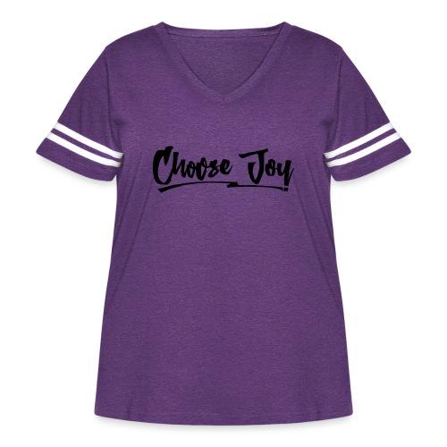 Choose Joy 2 - Women's Curvy Vintage Sport T-Shirt