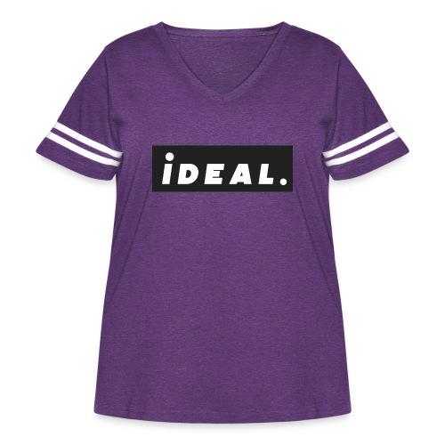 black ideal classic logo - Women's Curvy Vintage Sport T-Shirt