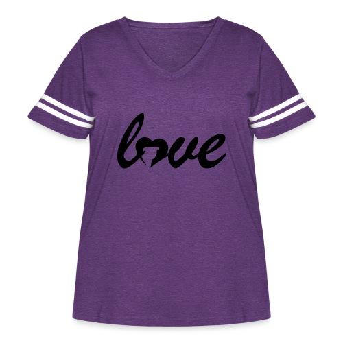 Dog Love - Women's Curvy Vintage Sport T-Shirt