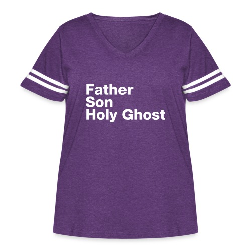 Father Son Holy Ghost - Women's Curvy Vintage Sport T-Shirt