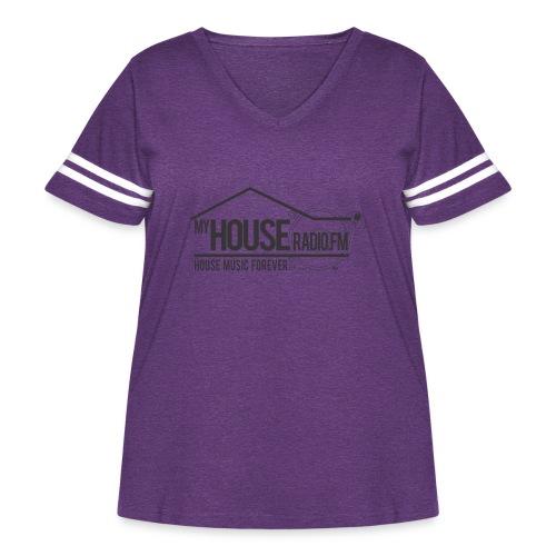 My House Radio Black Logo - Women's Curvy Vintage Sport T-Shirt