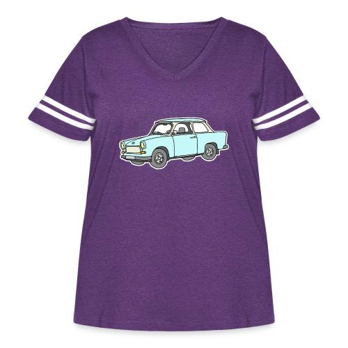 Trabant (lightblue) - Women's Curvy Vintage Sports T-Shirt
