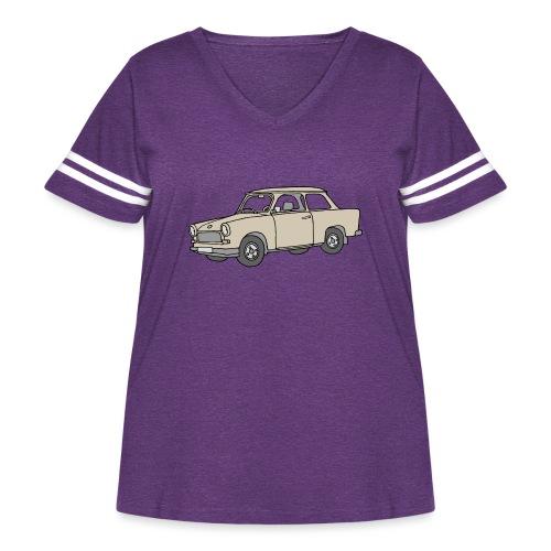 Trabant (papyrus car) - Women's Curvy Vintage Sport T-Shirt