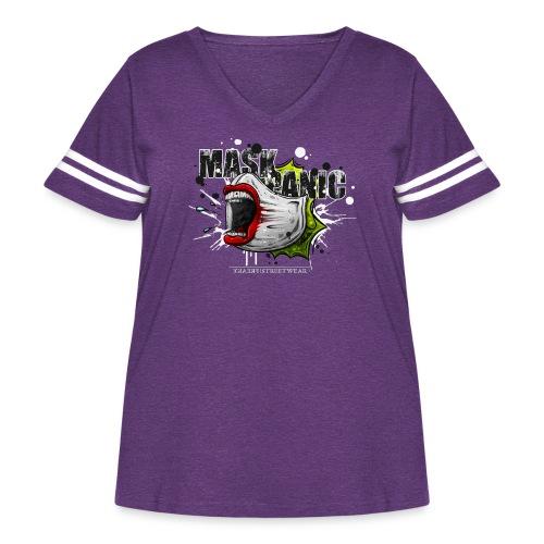 mask panic - Women's Curvy Vintage Sport T-Shirt