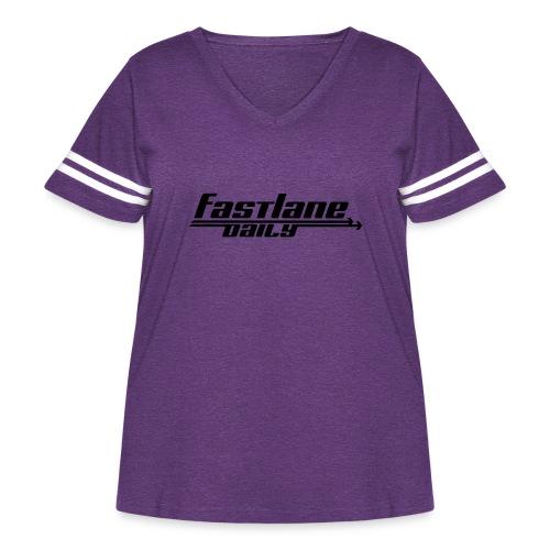 Fast Lane Daily logo - Women's Curvy Vintage Sport T-Shirt