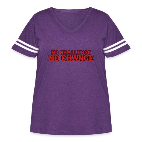 No Challenge No Change - Women's Curvy Vintage Sport T-Shirt