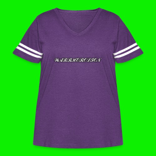 Warherolion plane text-gray - Women's Curvy Vintage Sport T-Shirt