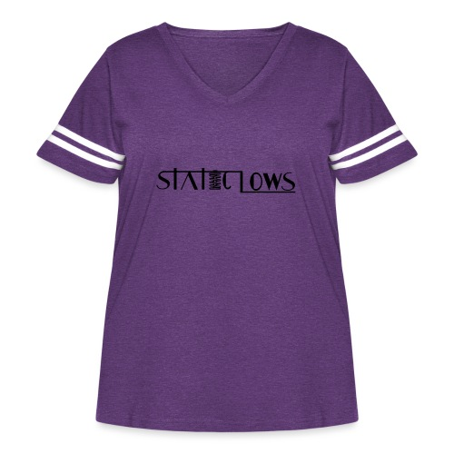 Staticlows - Women's Curvy Vintage Sport T-Shirt