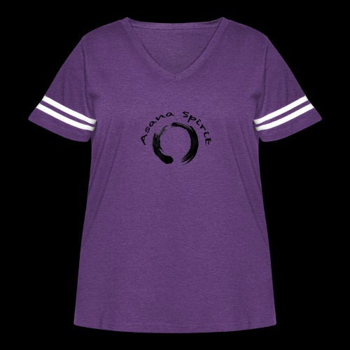 Asana Spirit - Women's Curvy Vintage Sport T-Shirt