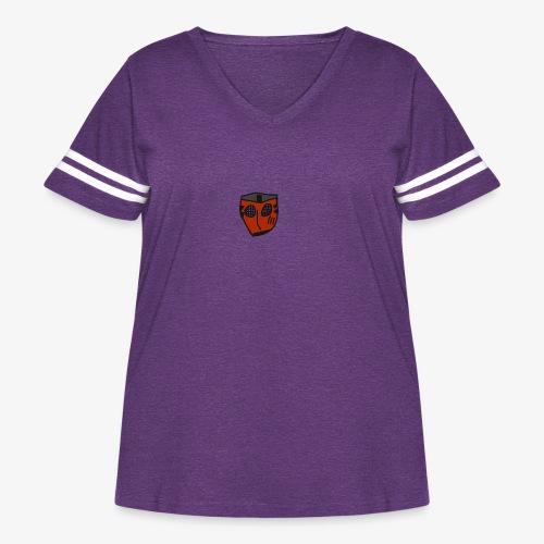 Scratched Mask MK IV - Women's Curvy Vintage Sport T-Shirt