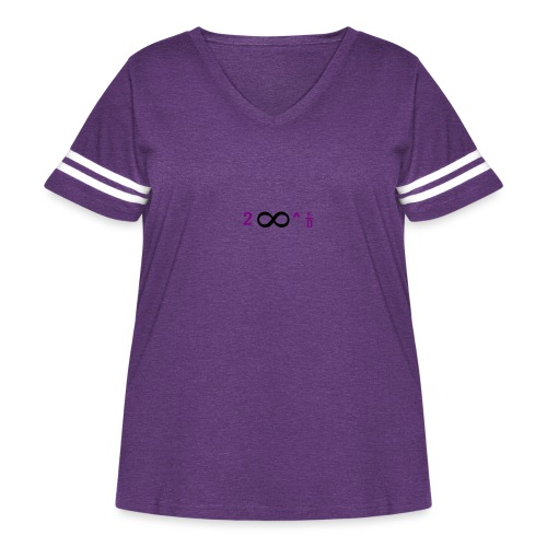To Infinity And Beyond - Women's Curvy Vintage Sport T-Shirt