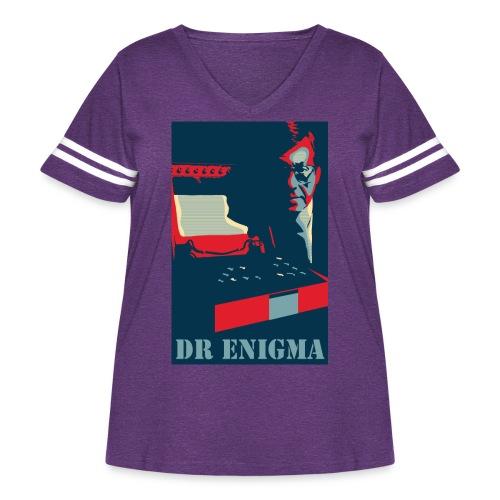 Dr Enigma+Enigma Machine - Women's Curvy Vintage Sport T-Shirt