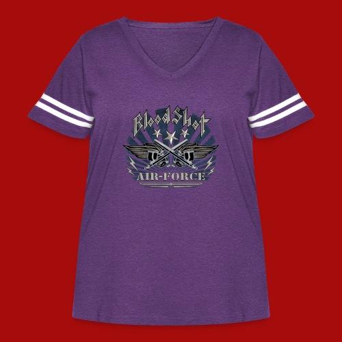 BloodShot Air Force with black - Women's Curvy Vintage Sport T-Shirt