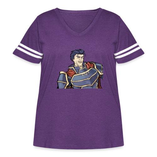 Hector Laugh Single - Women's Curvy Vintage Sport T-Shirt