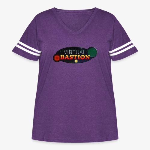Virtual Bastion: Space Logo - Women's Curvy Vintage Sport T-Shirt