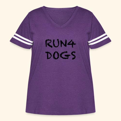 RUN4DOGS NAME - Women's Curvy Vintage Sport T-Shirt