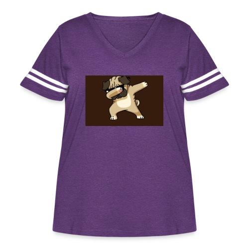 7FD307CA 0912 45D5 9D31 1BDF9ABF9227 - Women's Curvy Vintage Sport T-Shirt