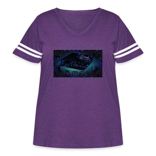 ps4 back grownd - Women's Curvy Vintage Sport T-Shirt